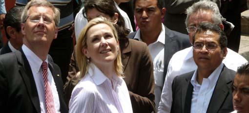 Asombra Guanajuato al presidente de Alemania y a su esposa
