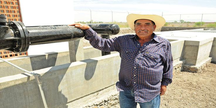 Realizan obras de agua potable