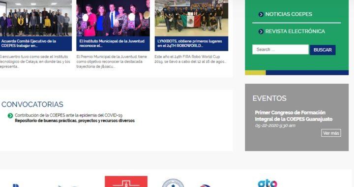 COEPES rediseña su sitio web