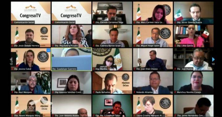 Diputados de Guanajuato sesionan por primera vez mediante videoconferencia